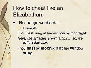 Language Of Elizabethan Drama