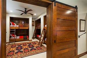 27 creative kids rooms with space savvy sliding barn doors With barn door bunk bed prices