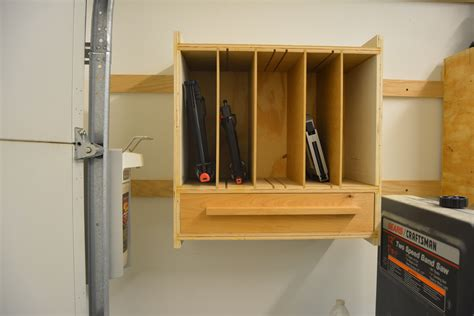 ana white nail gun cabinet diy projects