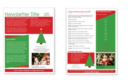 worddrawcom  christmas newsletter templates