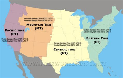 Time In The United States Wikipedia Zone Map North