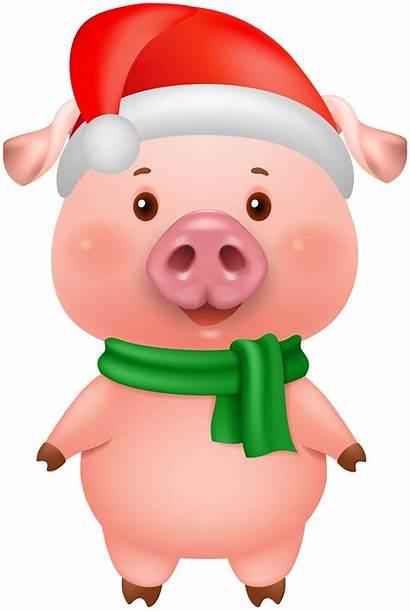 Pig Clip Clipart Drawing Yopriceville Navidad Transparent