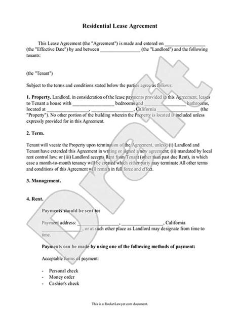 to own agreement create lease agreements rental agreement template rocket lawyer Rent