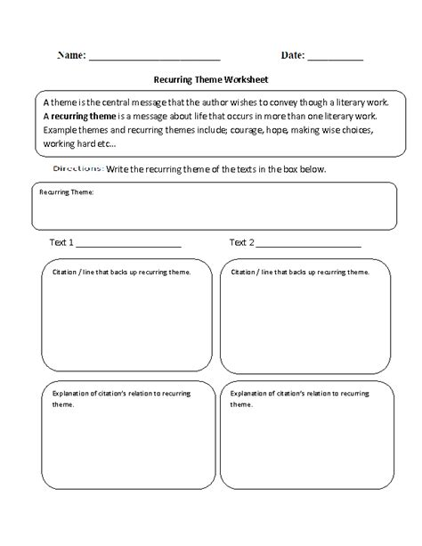 themed worksheets for 4th grade 12 best images of worksheets finding the theme reading