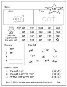 cvc wordsword families activities images cvc