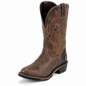 men39s justin 13quot hybred western toe pull on boots 582222 With cowboy boots utah