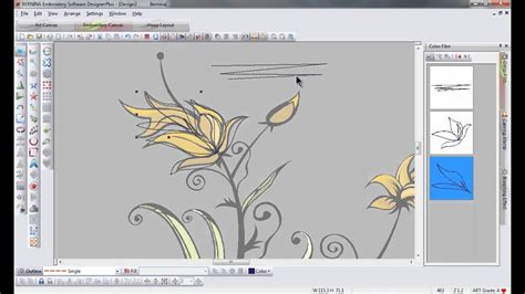 bernina embroidery software  freehand drawing tool