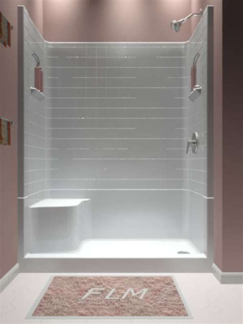 sectional piece remodeler shower  house bathrooms