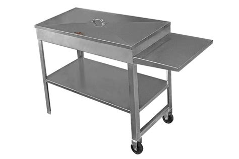 grill side table outdoor 42 charcoal grill with side table maui bbq islands