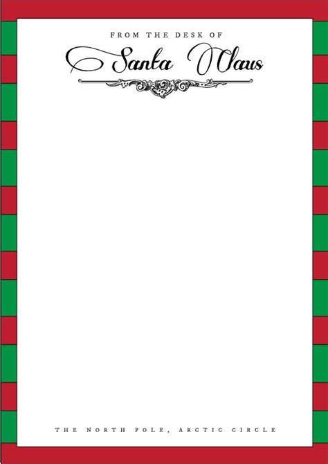 santa letterhead template holidays pinterest
