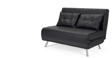 canape convertible futon haru small black sofa bed made com