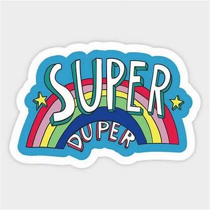 Duper Super Sticker Rainbow Drawn Hand Seventies