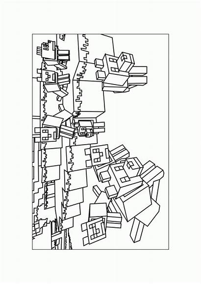 Minecraft Coloring Pages Printable Sheet Drawing Coloring4free