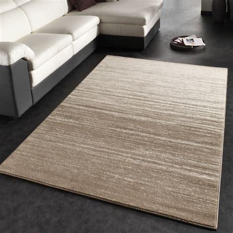 teppich beige kurzflor moderner designer teppich kurzflor flachflor velours farbverlauf in creme beige wohn und