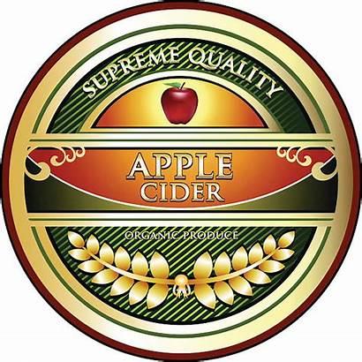 Cider Apple Vector Clip Illustrations Label Graphics
