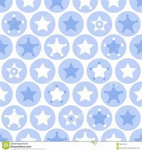 Geometric Boys Kids Circles And Stars Seamless Pattern On ...