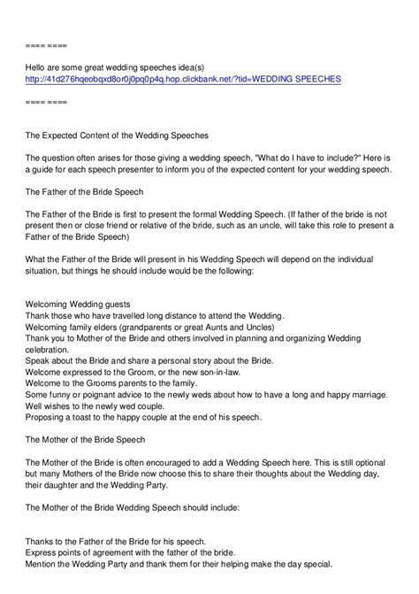 wedding toast exles mother s wedding speech
