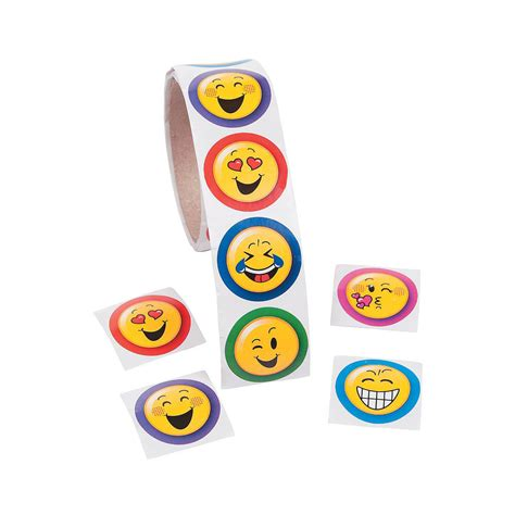1 Roll Birthday Everyday Party Favors Colorful Emoji Face