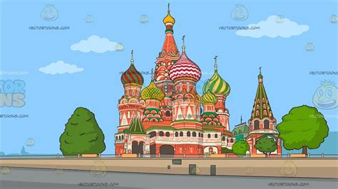 foto de The Saint Basil Cathedral Background Clipart Cartoons By