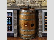 Reclaimed Wine Barrel Bar Sink So That's Cool