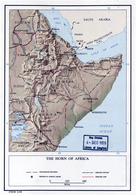 large detailed political map   horn  africa