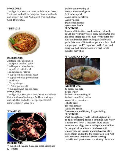 delicacies  recipe  region iii