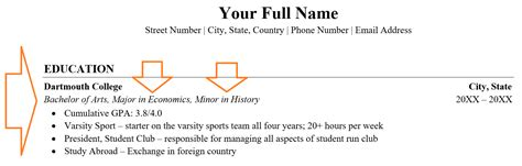 how to list minor on resume overview guide exles