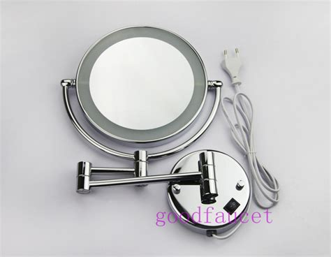 wall mounted led light makeup mirrors 8 quot mirrors