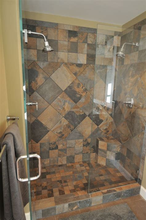 77 best images about slate tile showers on