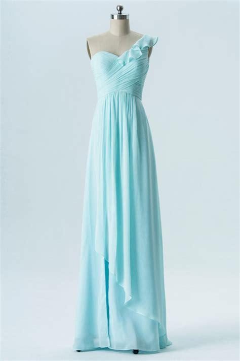 robe bleu pastel pour mariage chic robe t 233 moin mariage bleu pastel col asym 233 trique 224