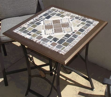 Mosaic Tile Outdoor Table by Upcycled Mosaic Tile Patio Table Outdoor Space