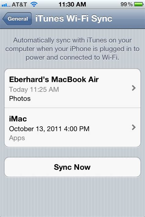 how to change the air sync settings on iphone itunes how to sync iphone on laptop with