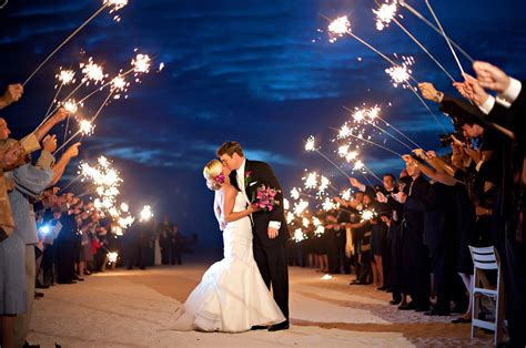 Using Sparklers For Your Wedding Exit Send Off A