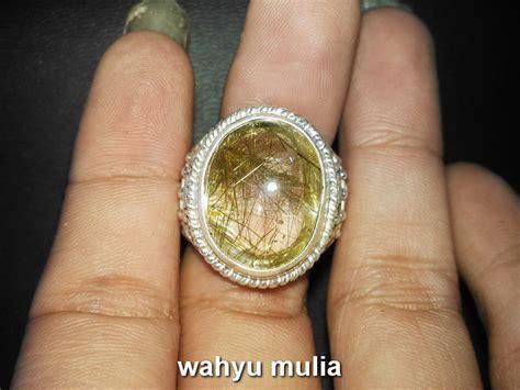 Kecubung Rambut Salai batu cincin kecubung rambut emas asli kode 695 wahyu mulia