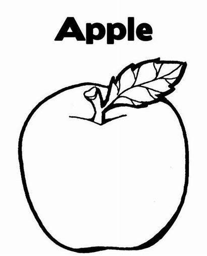 Fruit Coloring Apple Fruits Pages Drawing Drawings