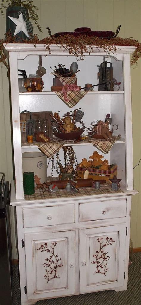 country hutch primitive kitchen ideas pinterest