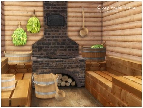 cozy rustic sauna  sims  severinka sims  updates