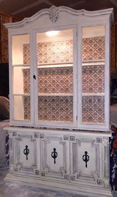 ideas  refurbished hutch  pinterest plaster paint china cabinets  salon color bar