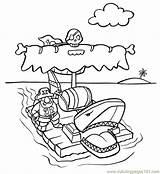 Raft Pirati Coloringpages101 Disegno Kleurplaten Kleurplaat Littles sketch template