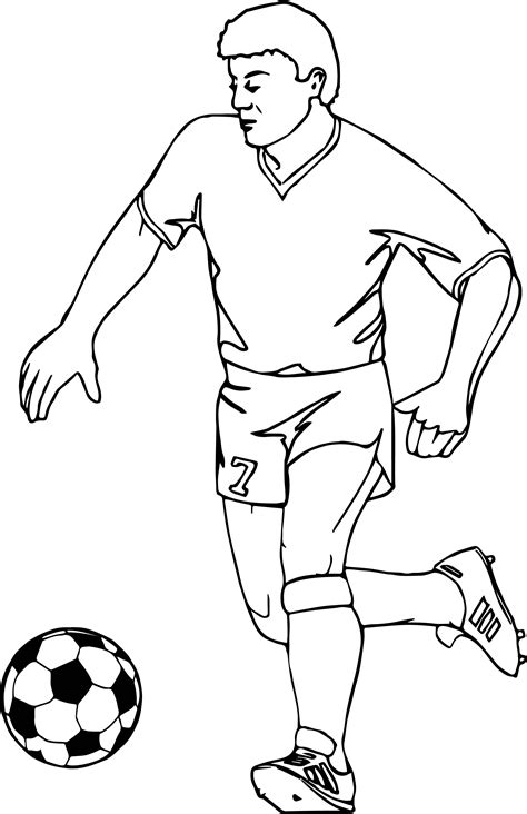soccer coloring pages running football player soccer coloring page
