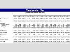 Merchandise Planner Template Business Budget Template