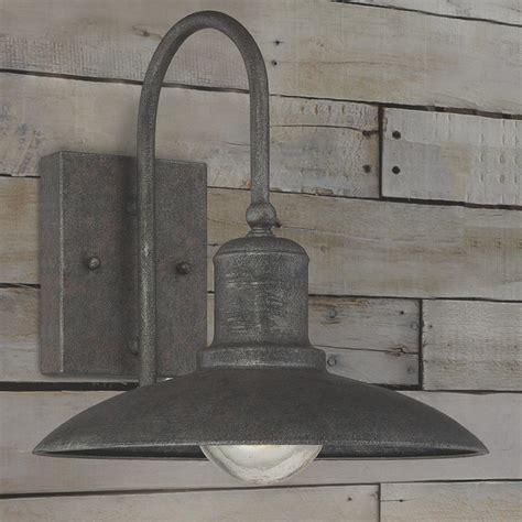 artisan rustic industrial outdoor sconce medium shades