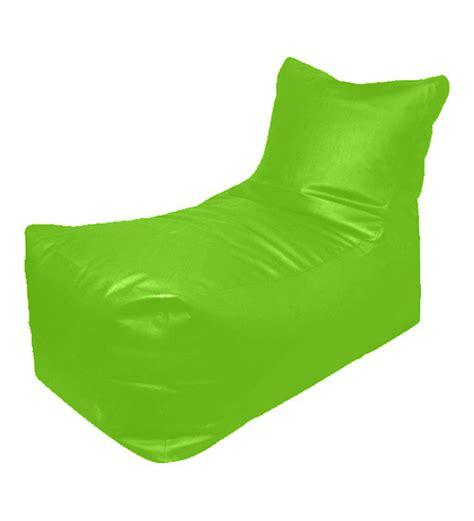 pebbleyard lounger green bean bag chair with beans