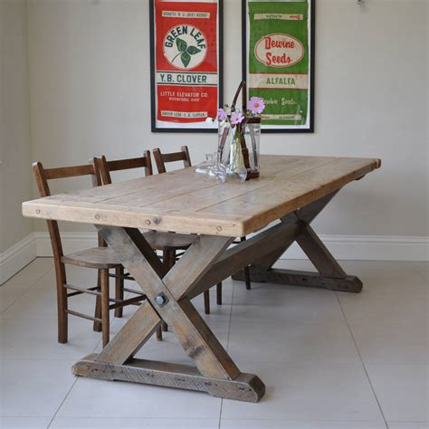 how to make a country kitchen table reclaimed timber country dining table by home barn 9477