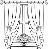 Curtain Drawing Curtains Stage Arch Illustration Vector Window Clip Theater Getdrawings Theatre Pugovica88 Means Depositphotos Interior Gograph Royalty sketch template