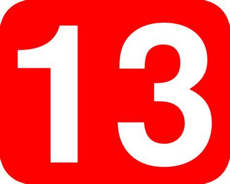 Number 13 Clip Art At Clkercom  Vector Clip Art Online