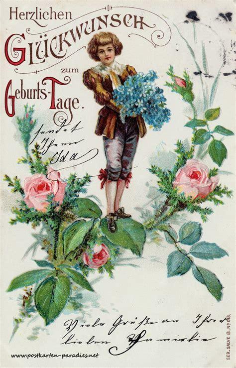 schoene alte geburtstagskarten alte postkarten