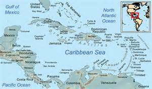 maps of the caribbean sea and its islands