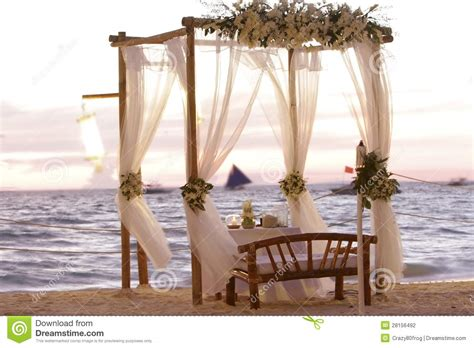 wedding table decoration  beach stock photography