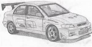 Dessin Fast And Furious : lancer evo 8 de 2 fast and 2 furious mes dessins de dbz et mes voitures ~ Maxctalentgroup.com Avis de Voitures
